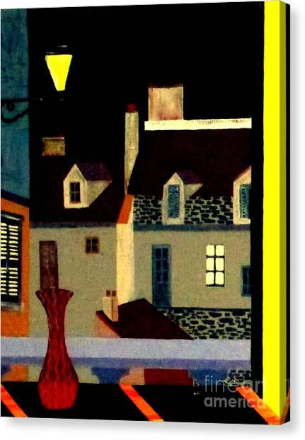 Marais At Night Canvas Print