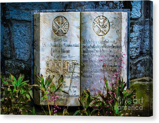 Chi Omega Canvas Print - Marble Bible - Franciscan Monastery - Fussen - Germany by Gary Whitton