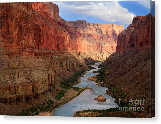 Colorado Rapids Canvas Print - Marble Canyon - April by Inge Johnsson