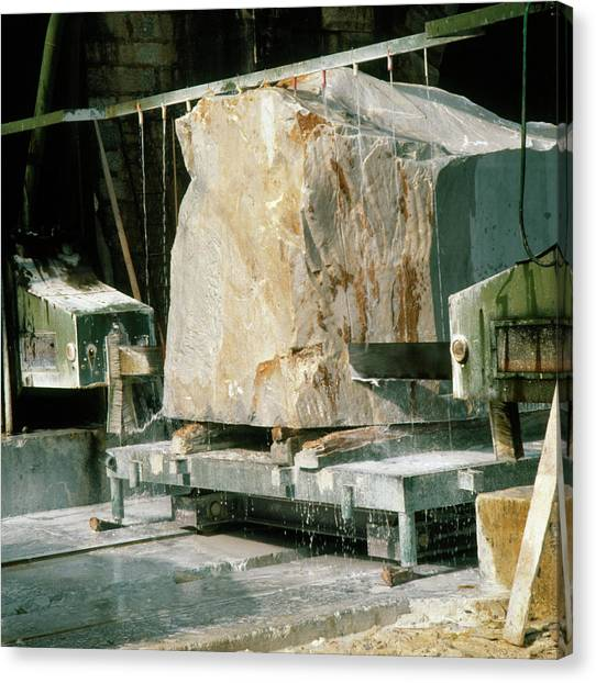 Marble Quarry At Fantiscritti Caves Canvas Print by Sheila Terry/science Photo Library.