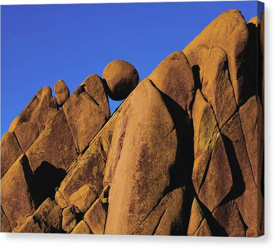 Marble Rock Formation Closeup Canvas Print