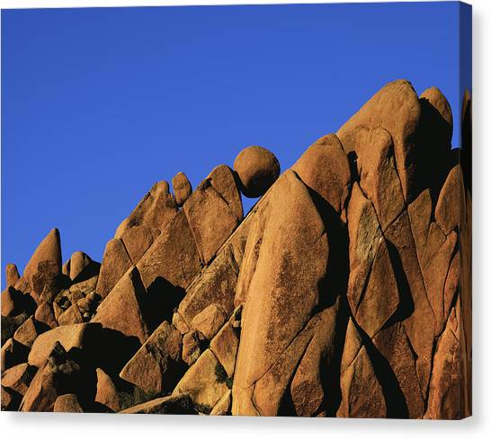 Marble Rock Formation Normal Canvas Print