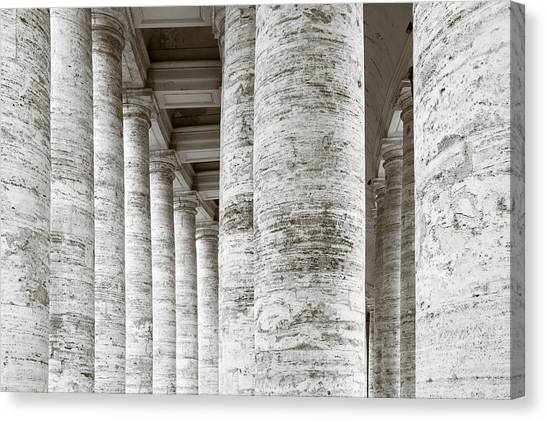 Rome Canvas Print - Marble Roman Columns by Susan Schmitz