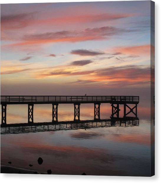 Marbled Pier Canvas Print