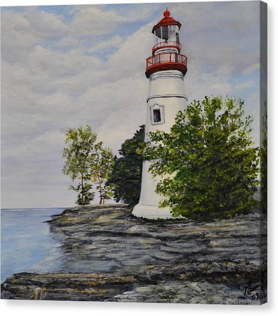 Marblehead Light House On Lake Erie Canvas Print