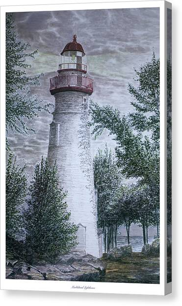 Marblehead Lighthouse Canvas Print by Frank Evans