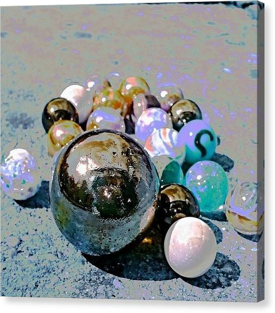 Floss Canvas Print - Marbles #marbles #play #child #children by Candy Floss Happy
