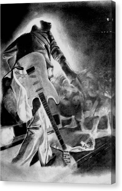 Marc Bolan On Stage Canvas Print