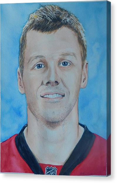 Ottawa Senators Canvas Print - Marc Methot by Betty-Anne McDonald