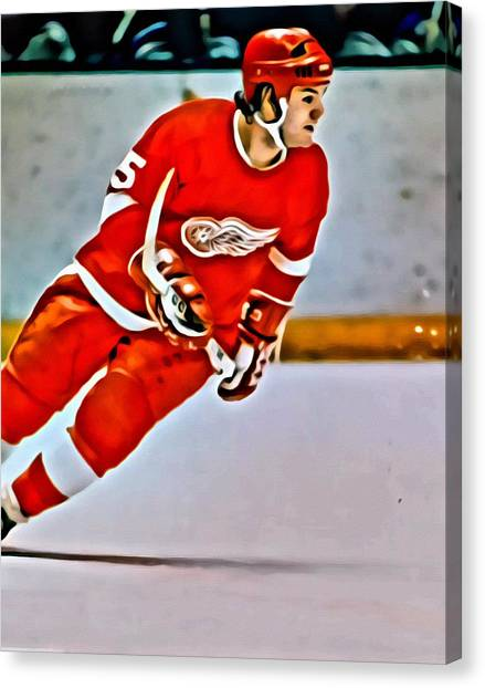 Los Angeles Kings Canvas Print - Marcel Dionne by Florian Rodarte