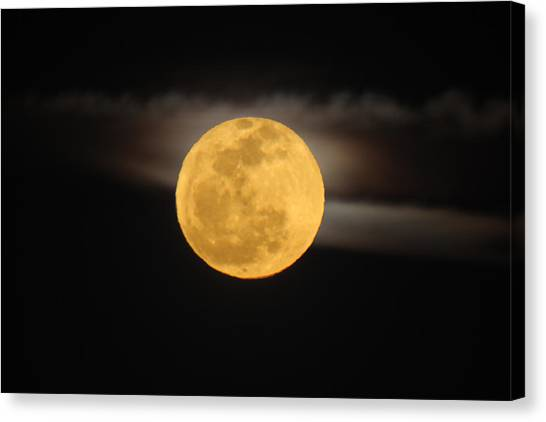March Full Moon Canvas Print