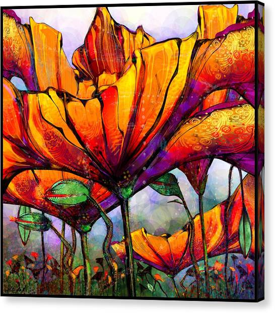 March Of The Poppies Canvas Print