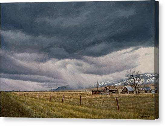 Montana Canvas Print - March Sky-montana by Paul Krapf