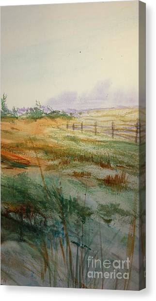 March Thaw  Detail 1 Canvas Print