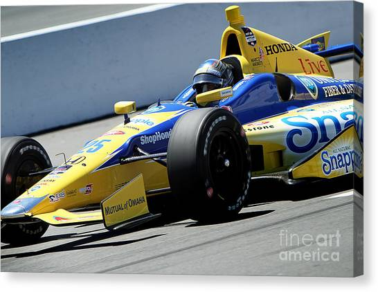 Marco Andretti Canvas Print - Marco Andretti Pit Lane by Bryan Maransky