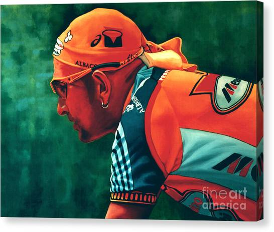 Pirate Canvas Print - Marco Pantani 2 by Paul Meijering