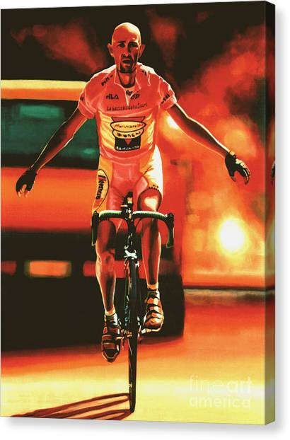 Pirates Canvas Print - Marco Pantani by Paul Meijering