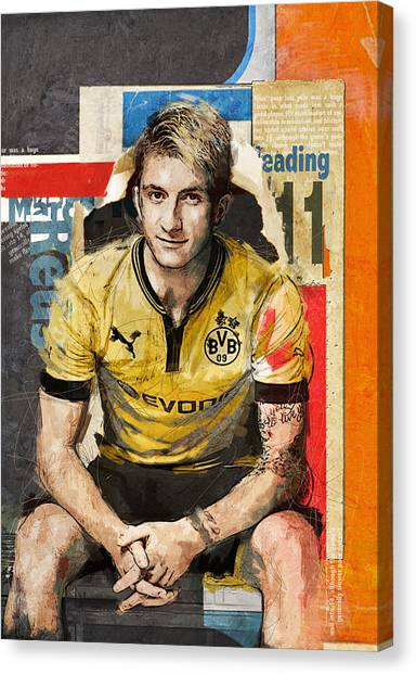 Fifa Canvas Print - Marco Reus by Corporate Art Task Force