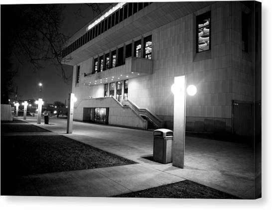 Marcus Center For The Performing Arts Canvas Print by Ricky L Jones