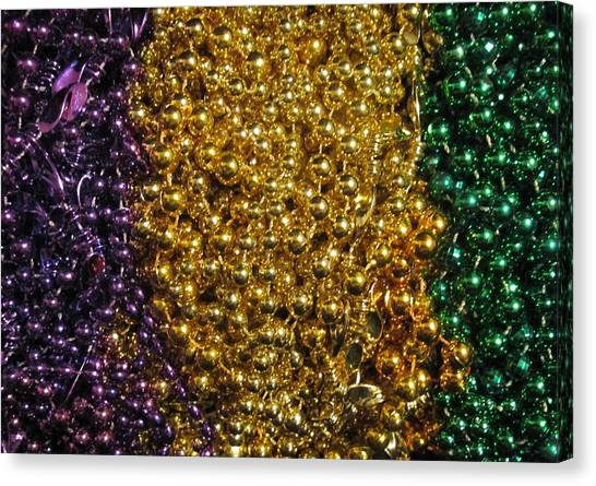 Mardi Gras Beads - New Orleans La Canvas Print