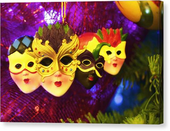 Mardi Gras Christmas Canvas Print