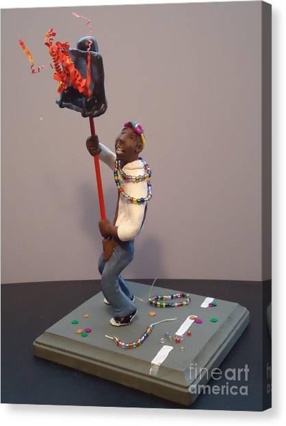 Mardi Gras Flambeau Canvas Print by Katie Spicuzza