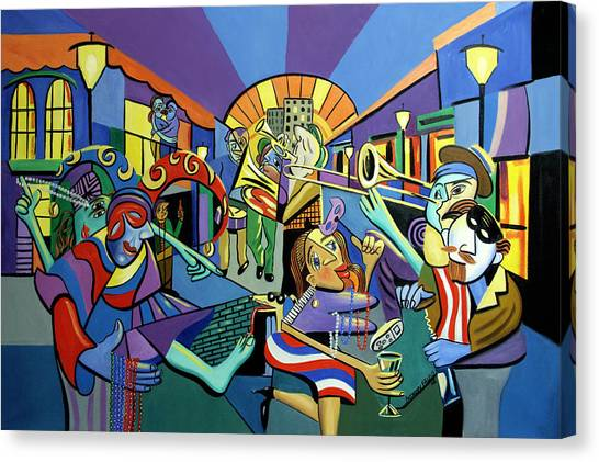 Trombone Canvas Print - Mardi Gras Lets Get The Party Started by Anthony Falbo