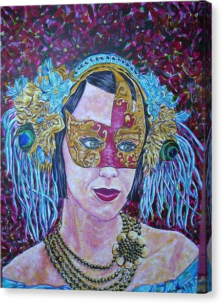 Mardi Gras Canvas Print by Linda Vaughon