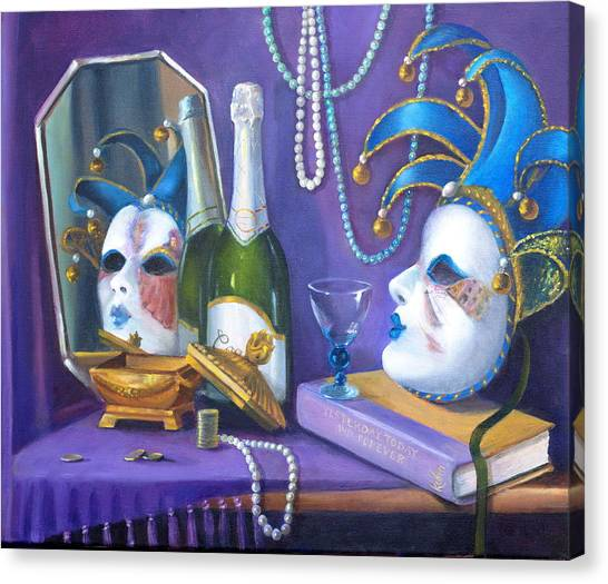Mardi Gras Canvas Print by Rich Kuhn