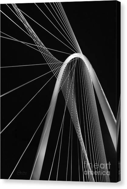 Margaret Hunt Hill Bridge Dallas Texas Canvas Print