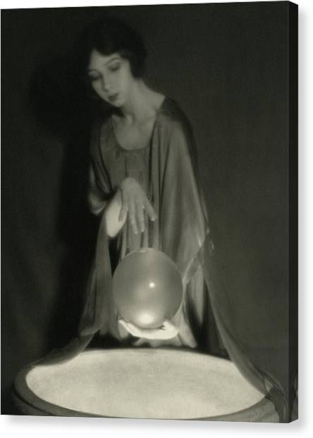 Follies Canvas Print - Margaret Severn With An Orb by Alexander Milne
