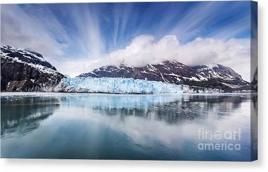 Margerie Glacier Canvas Print - Margarie Glacier In Glacier Bay National Park by Jo Ann Snover