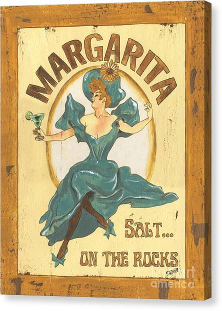 Pub Canvas Print - Margarita Salt On The Rocks by Debbie DeWitt