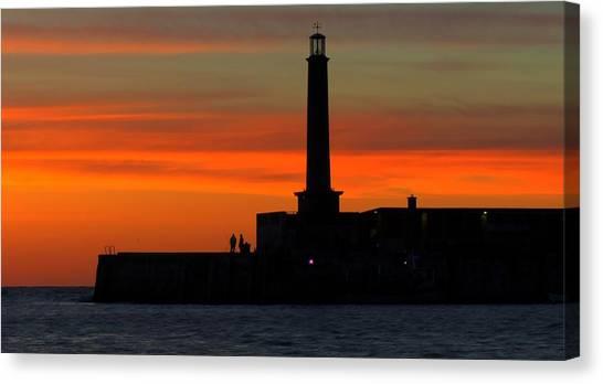 Margate Pier Sunset Canvas Print