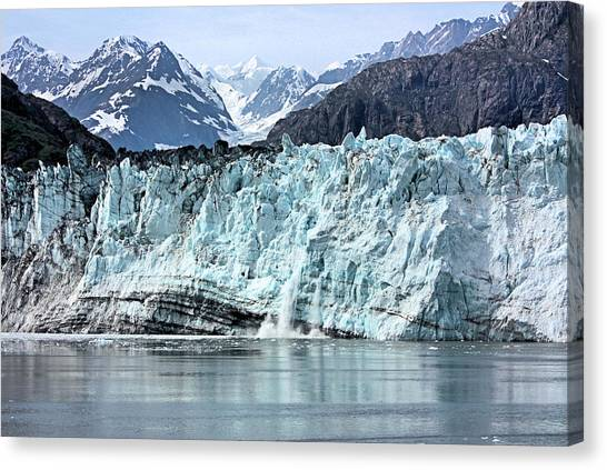 Margerie Glacier Canvas Print - Margerie Glacer Calving by Kristin Elmquist