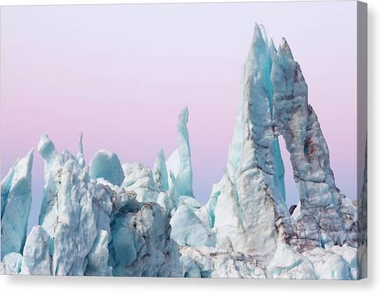 Glacier Bay Canvas Print - Margerie Glacier Ice Formations by Danita Delimont