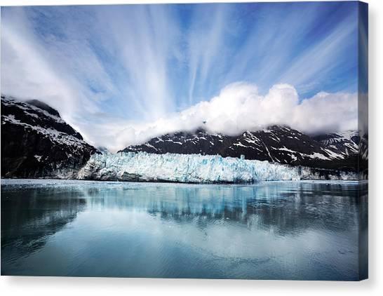 Margerie Glacier Canvas Print - Margerie Glacier by Jo Ann Snover