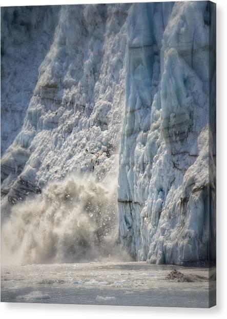 Margerie Glacier Canvas Print - Margerie Glacier by Vicki Jauron