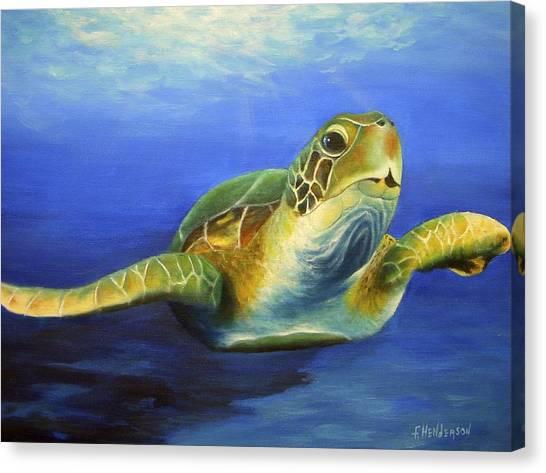 Margie The Sea Turtle Canvas Print