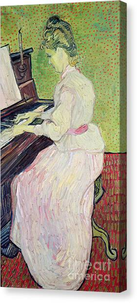 Pianos Canvas Print - Marguerite Gachet At The Piano by Vincent Van Gogh