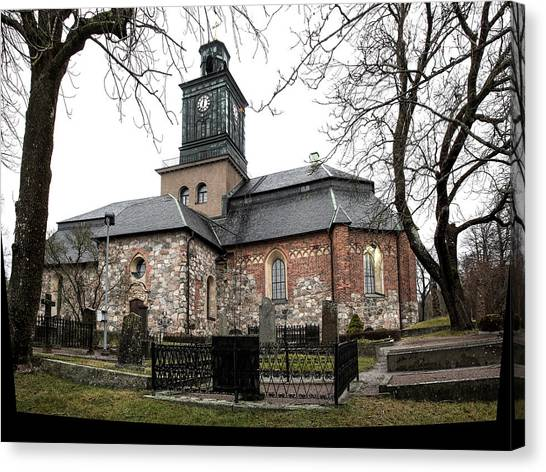 Canvas Print featuring the photograph Maria Church Enkoeping From South Leif Sohlman by Leif Sohlman