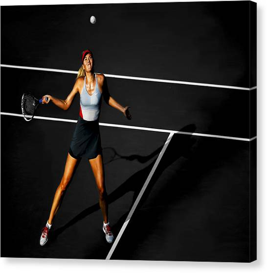 Maria Sharapova Canvas Print - Maria Sharapova by Brian Reaves