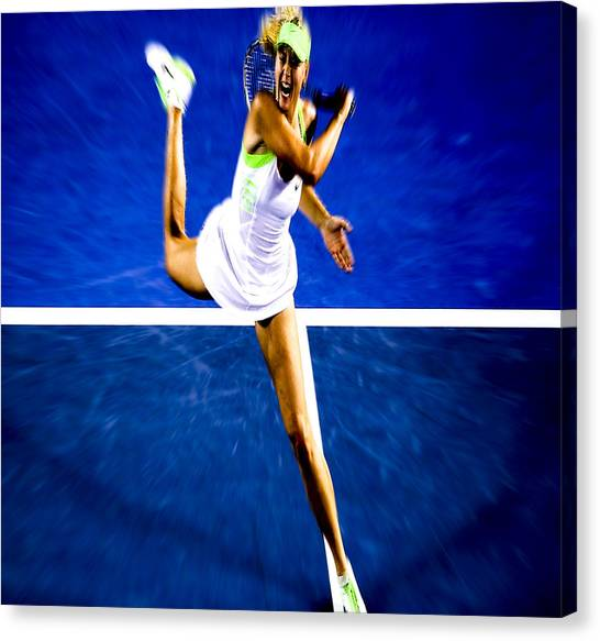 Maria Sharapova Canvas Print - Maria Sharapova In A Zone by Brian Reaves