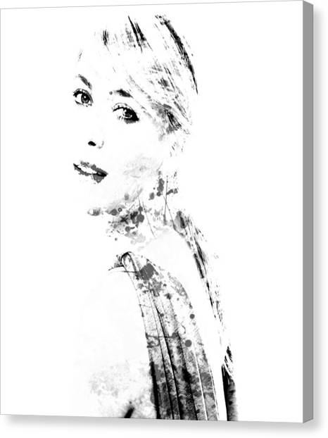 Maria Sharapova Canvas Print - Maria Sharapova Paint Splatter 1a by Brian Reaves