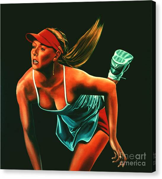 Maria Sharapova Canvas Print - Maria Sharapova  by Paul Meijering