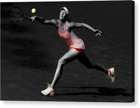 Maria Sharapova Canvas Print - Maria Sharapova Reaching Out by Brian Reaves