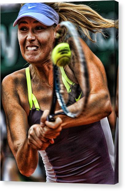 Maria Sharapova Canvas Print - Maria Sharapova by Srdjan Petrovic