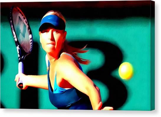 Maria Sharapova Canvas Print - Maria Sharapova Tennis by Lanjee Chee