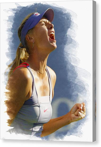 Maria Sharapova Canvas Print - Maria Sharapova - Us Open 2011 by Don Kuing
