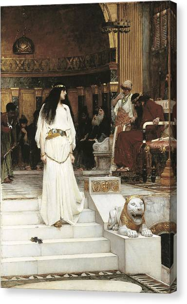 Accused Canvas Print - Mariamne, 1887 Oil On Canvas by John William Waterhouse